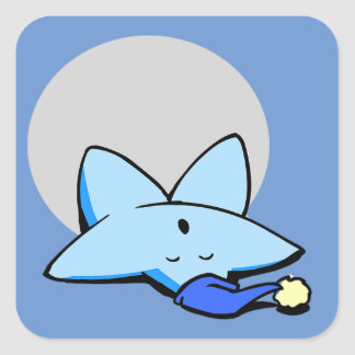 Sleepy Blue Star Sticker