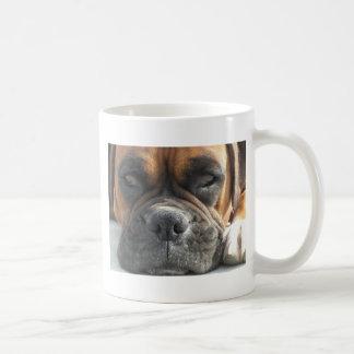 Sleepy Boxer Dog Design Coffee Mug