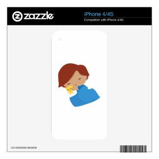 Sleepy Boy iPhone 4S Decals