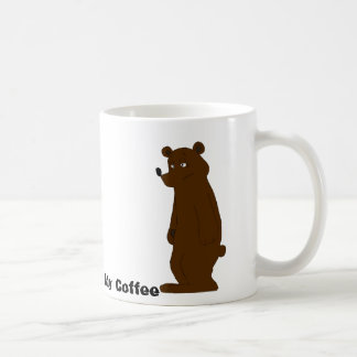 Sleepy Cartoon Bear Coffee Mug