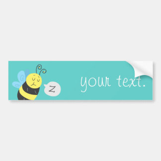 Sleepy Cartoon Bumblebee Bumper Sticker