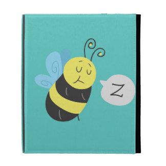 Sleepy Cartoon Bumblebee iPad Folio Covers