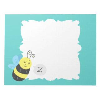Sleepy Cartoon Bumblebee Notepad
