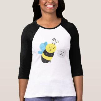 Sleepy Cartoon Bumblebee Tee Shirts