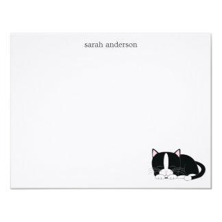 Sleepy Cat Flat Thank You Notes 4.25x5.5 Paper Invitation Card
