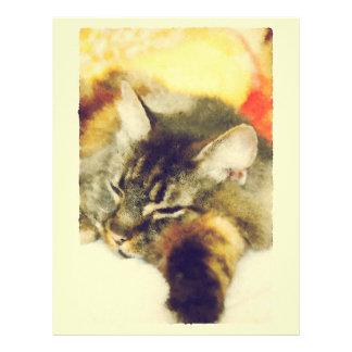 Sleepy Cat Letterhead Template