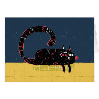 sleepy cat on pillow card