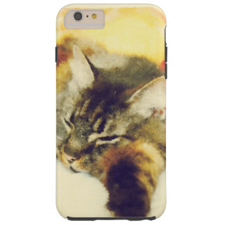 Sleepy Cat Tough iPhone 6 Plus Case