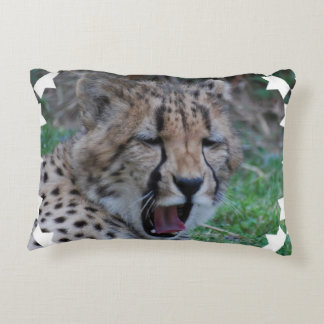 Sleepy Cheetah Cub Decorative Pillow
