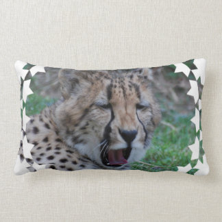 Sleepy Cheetah Cub Lumbar Pillow