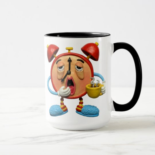 Sleepy Clock Mug