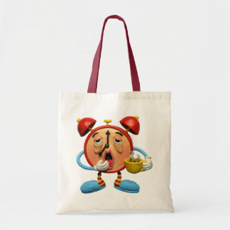 Sleepy Clock Tote Bag
