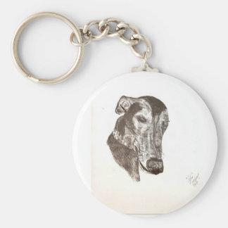 Sleepy Cofax-the greyhound sketch Keychain