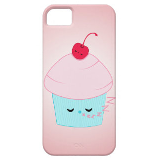 Sleepy Cupcake and Cherry Kawaii iPhone Case