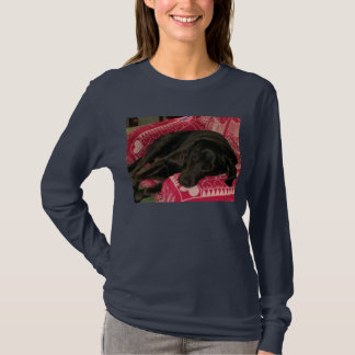 Sleepy Dog Womens Long-Sleeve T-Shirt