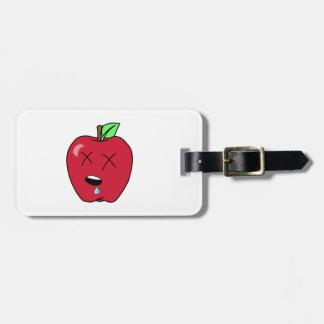 Sleepy Drooling Red Apple Bag Tag