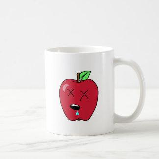 Sleepy Drooling Red Apple Coffee Mug