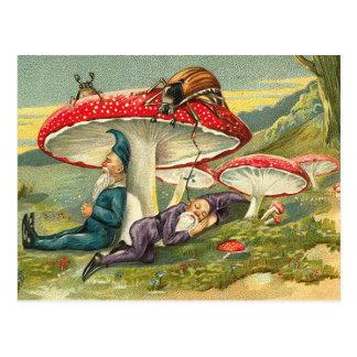 Sleepy Elves Postcard