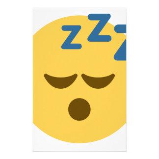 Sleepy Emoji Stationery