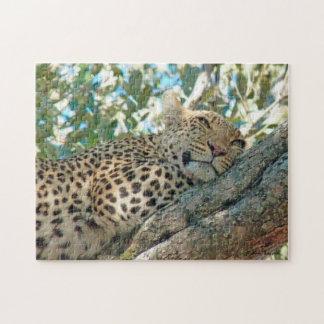 Sleepy-Eyed Leopard Puzzle