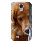 Sleepy Eyed Senior  Dog Samsung Galaxy S4 Cases