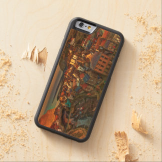 Sleepy Fishing Village Carved® Maple iPhone 6 Bumper Case