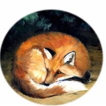 """""""Sleepy Fox"""" Art Ornament"""