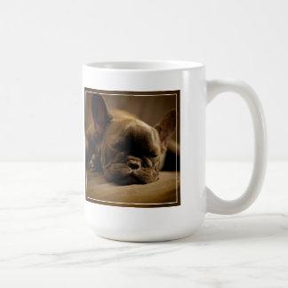 Sleepy French Bulldog Coffee Mug