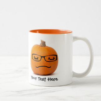 Sleepy Geek Jack o Lantern with Glasses Mug