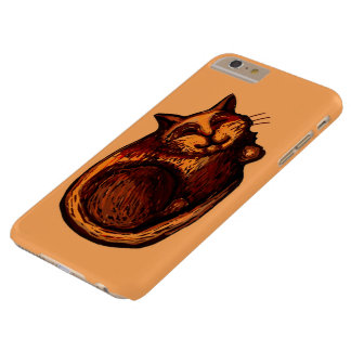 Sleepy Ginger Cat Orange iPhone 6/6s Plus Case
