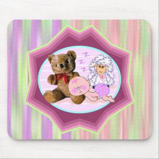 Sleepy Girl Baby Gifts Mouse Pad