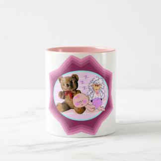 Sleepy Girl Baby Gifts Two-Tone Coffee Mug