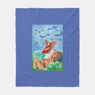 SLEEPY GNOME Fleece Blanket 50inchx60inch