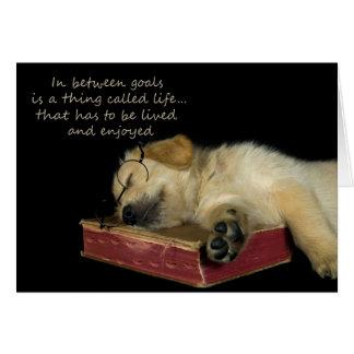 Sleepy Golden Retriever Card