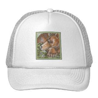 Sleepy Grizzly Bear Hat