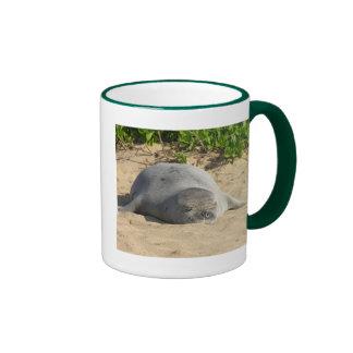 Sleepy Hawaiian Monk Seal Coffee Mugs