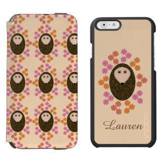 Sleepy Hedgehog and Flowe Personalized iPhone Case