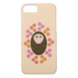 Sleepy Hedgehog and Flowers iPhone Case
