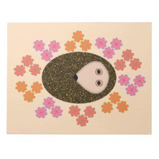 Sleepy Hedgehog and Flowers Notepad