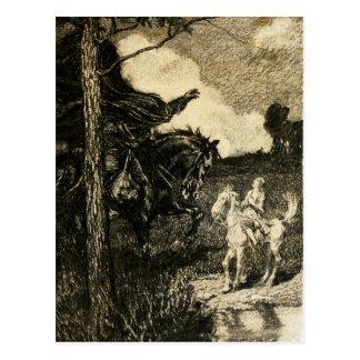 Sleepy Hollow: A Horseman of Large Dimensions Postcard