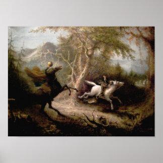 Sleepy Hollow Headless Horseman Framed Art Poster