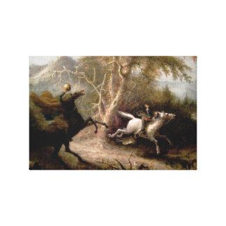 Sleepy Hollow Headless Horseman Framed Canvas Print