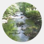 Sleepy Hollow waterway Round Sticker