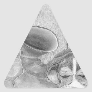 Sleepy Hunter 3 by MMW.jpg Triangle Sticker