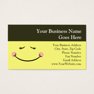 Sleepy Kawaii Happy Face Business Card