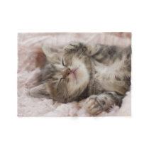 Sleepy Kitten Fleece Blanket