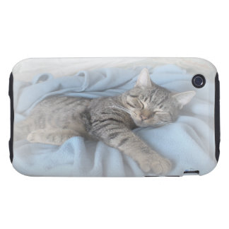 Sleepy Kitty iPhone 3G/3GS Case-Mate Tough iPhone 3 Tough Covers