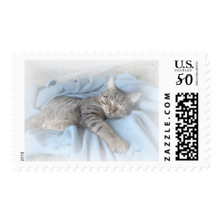 Sleepy Kitty Postage