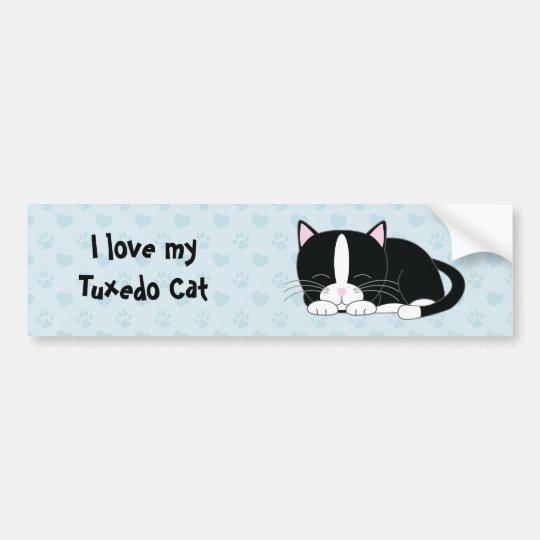 Sleepy Kitty {Tuxedo} Bumper Sticker