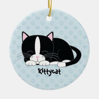 Sleepy Kitty {Tuxedo Cat} Custom Ornaments